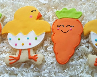 Easter Carrot Cookies one dozen Party Favors