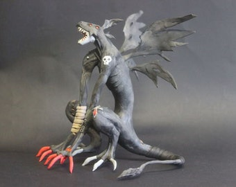 Anime figure of a winged demon,demon figurine,demon statuette