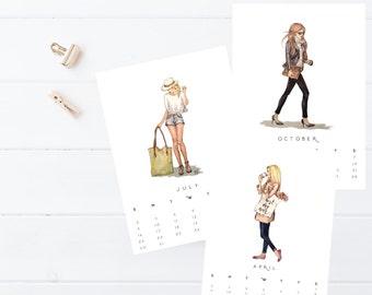 Fashion Illustration Calendar - 2017 NOW ON SALE