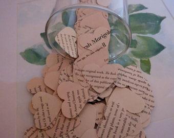 Paper confetti/Heart shaped confetti/Victorian Lady Book confetti/wedding confetti/Vintage book/Bridal decor