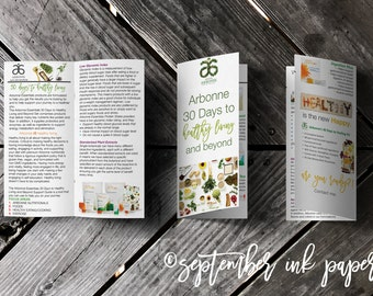 Arbonne 30 Days to Healthy Living Marketing Brochure