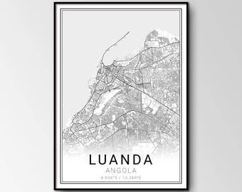 Luanda city map