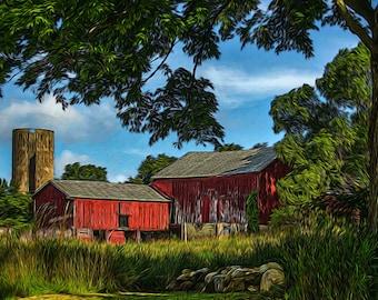 A peaceful day on the farm