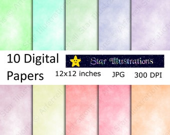 Pastel Parchment Digital Paper, Scrapbook Paper, Background Designs, Instant Download Commercial Use - DP003