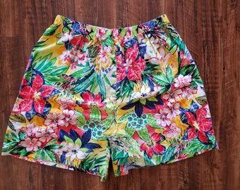 Hawaiian Inspired Casual Shorts