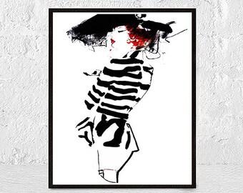 Makeup Printable, Makeup Art, Fashion Illustration, fashion art print, Fashion poster, Bathroom Decor, Vanity Decor, Makeup Lover