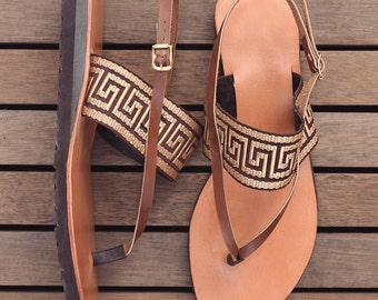ATHENA. Handmade Leather Sandals /Women's Shoes /Comfort Birk Sole/Boho Chic Shoes. Sizes 6-11