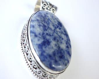 Sodalite Silver Pendant