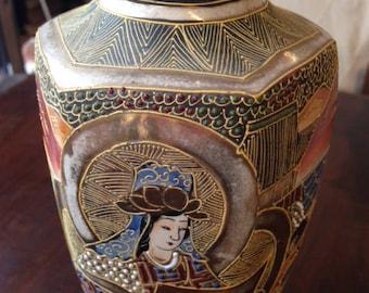 satsuma earthenware vase