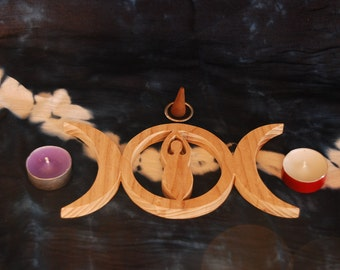 TRIPLE MOON GODDESS Altar Tile