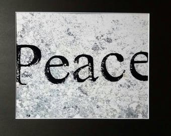 Peace Matted Photograph 11 x 14