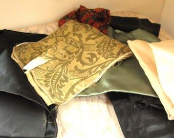 lot of vintage silk pieces