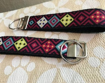 Aztec Key Chain, Key Fob with key ring
