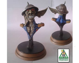 Goblin General-Navy Mini Bust. High quality handcrafted sci-fi fantasy statuette. Hand painted.