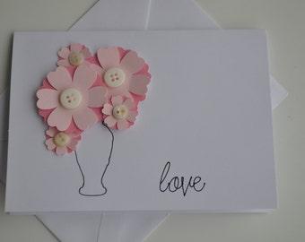 Notecard - Blank 4x5.25 Valentine's Day / Love