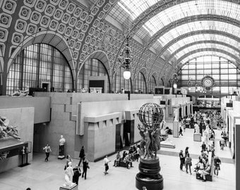 Musée d'Orsay, Paris Photography, Black and White, Paris Print, Fine Art Photography, Paris Wall Art, Paris Architecture, France Wall Art