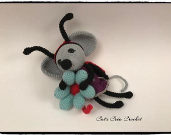 Little Mylee mouse, amigurumi crochet