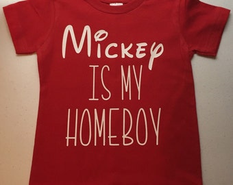 Mickey is my homeboy youth shirt
