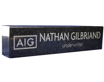 "Desk Name Plates - Engraved Granite 8"" x 2"""