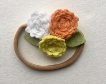 SUNSHINE// delicate flower cluster// headband