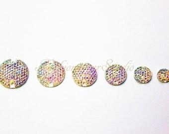 Clear AB Sew On Flatback Resin Gems, Sew On Rhinestones, FlatBack Gems, Sew On Beads, Sew On Crystal, Embellishment Gems