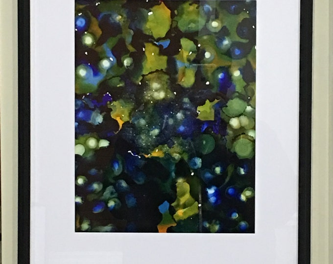 "Original Alcohol Ink Abstract: ""Leafing Beauty"""
