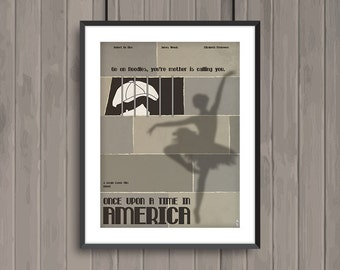 Once upon a Time in America, minimalist movie poster