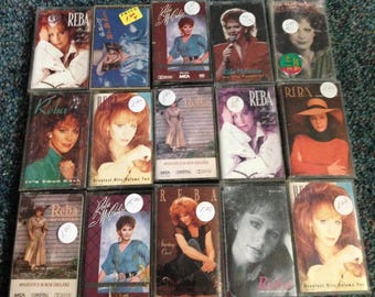 Reba McEntire Lot of 15 cassette tapes Best Of, Rumor Has It, It's Your Call, Read My Mind, Greatest Hits, Starting Over, Have I got A Deal