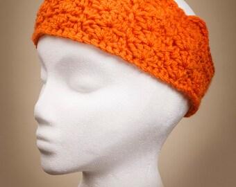Crocheted Double Shell Headband