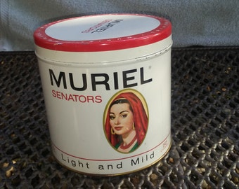 Vintage Muriel  Senators Cigar Tin