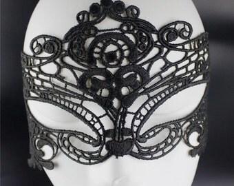 Sexy black Mask- 50 Shades -Lace Mask -  Masquerade mask - Role play - Mardi Gras