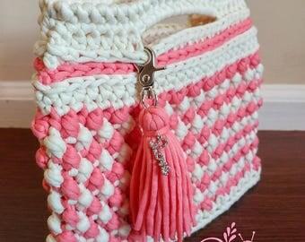 Ready to ship Crochet clutch handbag purse