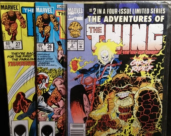 Marvel Comics The Thing Lot of 3 1985 92