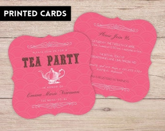 Bridal Shower Invitations, Bridal Shower Invitation, Personalized, Shower Invites, pink tea party