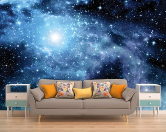 Galaxy Mural, Space Wallpaper, Outer Space Wall Mural, Stars, Deep Space,