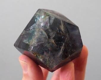 Rainbow Fluorite freeform polished geometric polygon