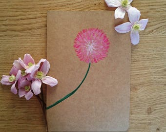 the wishing flower notebook