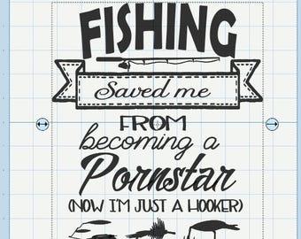 Fishing saved me SVG