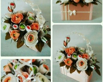 Candy bouquet/Candy flower/Paper flowers bouquet