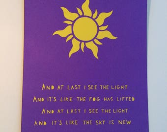 Disney's Tangled inspired papercut