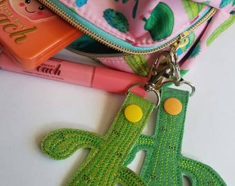 Cactus keychain cactus favors key fob gift