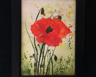 Small poppy watercolor