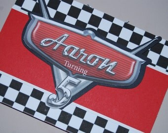 Disney Cars Double Sided Invite