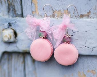 Earrings pink Macarons