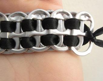 Pop Tab Bracelet Black Ribbon