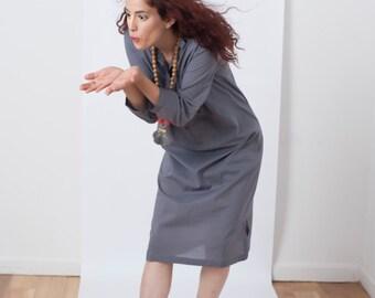 Ruth midi shirt dress – Gray