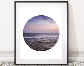 Ocean Beach Photography Print |  Sea Sky Photography Print Digital Download | Printable Beach Waves Photography Print | INSTANT DOWNLOAD