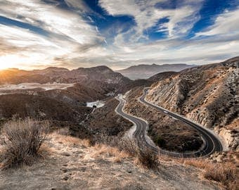 Photograph - Grimes Canyon - Landscape - Sunset - Dusk - Road