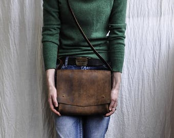Leather bag/Small leather bag/Brown leather bag/Brown small bag/Handmade bag/Crossbody bag