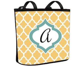 Moroccan Design Monogram Handbag Over the Shoulder Purse Bucket Bag